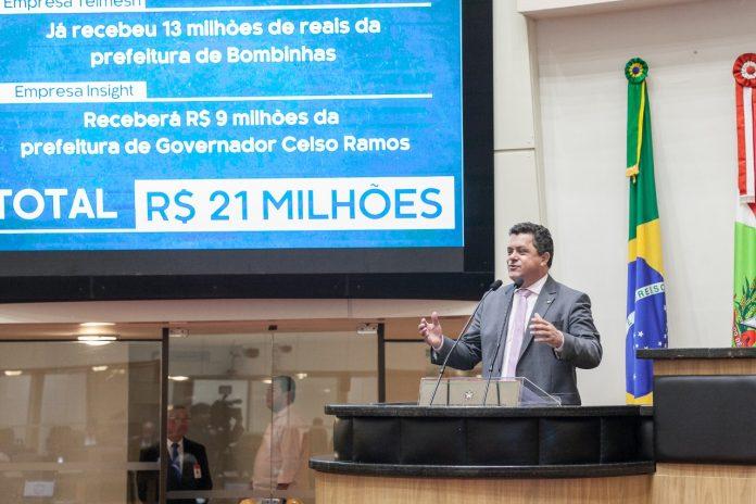 Deputado Naatz vai à justiça contra cobrança de TPA em governador Celso Ramos, SC Hoje News - Notícias de Balneário Camboriú