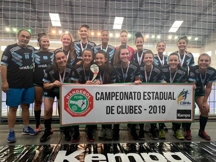 Equipe feminina do Handebol de Balneário Camboriú é Pentacampeã Estadual, Notícias de Balneário Camboriú