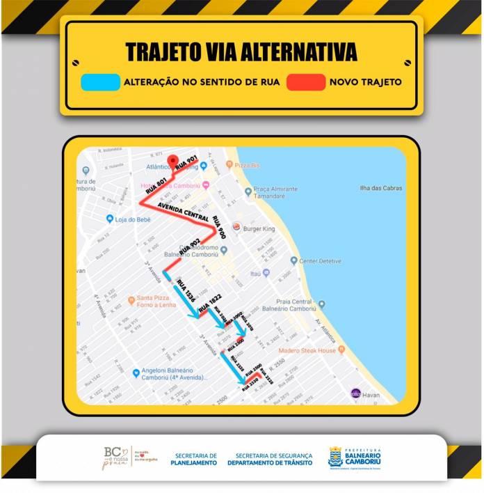 Balneário Camboriú terá alterações no trânsito em ruas do Centro, Notícias de Balneário Camboriú