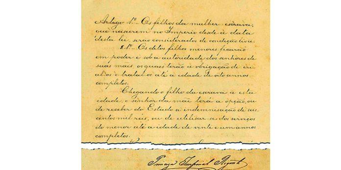 correios-lancam-selos-que-lembram-150-anos-da-lei-do-ventre-livre